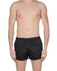 Prada Black Swimming Trunks for men