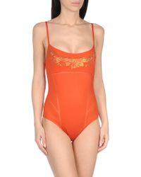La Perla | Orange One-piece Swimsuit | Lyst