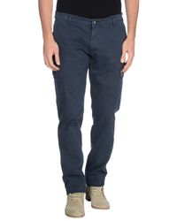 40weft - Blue Casual Trouser for Men - Lyst