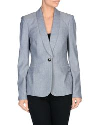 Burberry - Blue Blazer - Lyst