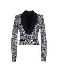 Patrizia Pepe | Metallic Blazer Jacket 1 Button Jaquard Lapels Satin | Lyst