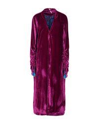Free People - Purple Overcoat - Lyst