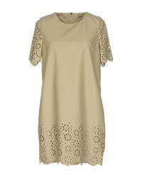 Darling - Natural Short Dress - Lyst