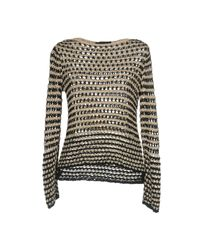 Les Copains - Natural Sweaters - Lyst