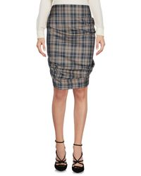 Vivienne Westwood Anglomania - Gray Knee Length Skirt - Lyst