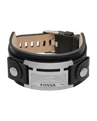 Fossil | Black Bracelet for Men | Lyst