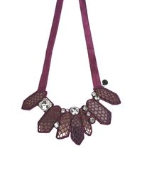 Emporio Armani | Purple Necklace | Lyst