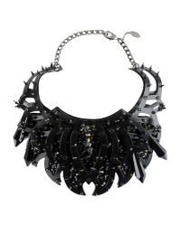 Roberto Cavalli | Black Necklace | Lyst
