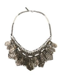 Deepa Gurnani | Gray Necklace | Lyst