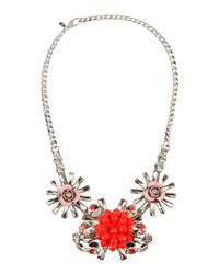 MSGM | Red Necklace | Lyst