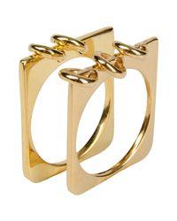 A Peace Treaty   Metallic Ring   Lyst