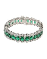 CZ by Kenneth Jay Lane | Green Bracelet | Lyst