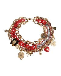 Tory Burch - Red Necklace - Lyst