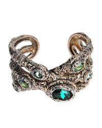 Roberto Cavalli - Green Bracelet - Lyst