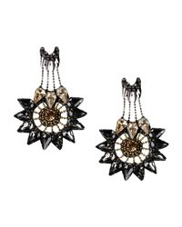 Deepa Gurnani   Black Earrings   Lyst