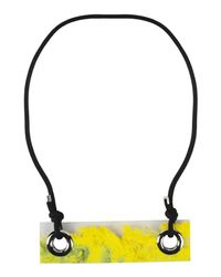 MM6 by Maison Martin Margiela - Yellow Necklace - Lyst