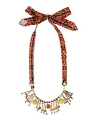 Pinko | Brown Necklace | Lyst