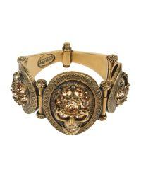 Alexander McQueen | Metallic Crystal-Embellished Flower Bracelet | Lyst