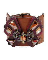 Lanvin | Brown Bracelet | Lyst