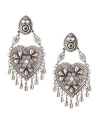 La Perla - Metallic Earrings - Lyst