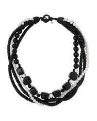 Weekend by Maxmara - Black Necklace - Lyst