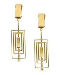MSGM | Metallic Earrings | Lyst