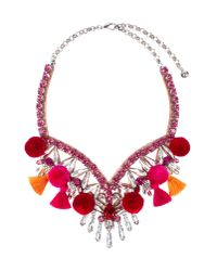 Shourouk | Red Necklace | Lyst