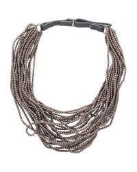 Brunello Cucinelli | Brown Necklace | Lyst
