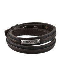 Fossil - Black Bracelet for Men - Lyst