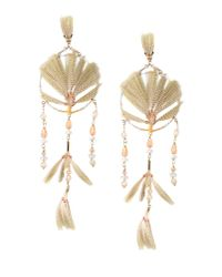 Valentino - Natural Earrings - Lyst
