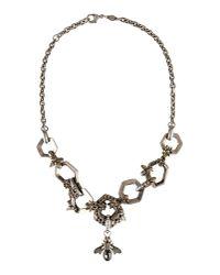 Alexander McQueen | Metallic Necklace | Lyst