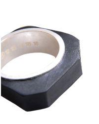 Maison Margiela - Black Ring for Men - Lyst