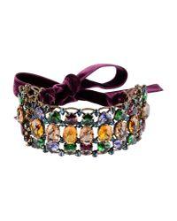 Lanvin - Purple Crystal Choker - Lyst