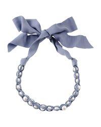Lanvin - Blue Necklace - Lyst
