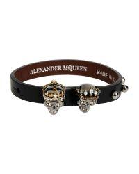 Alexander McQueen | Black Bracelet | Lyst