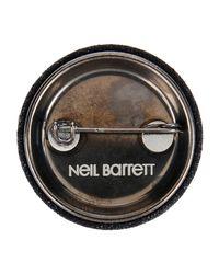 Neil Barrett - Gray Brooch - Lyst