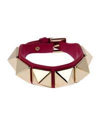 Valentino - Red Bracelet - Lyst