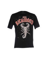John Richmond - Black T-shirt for Men - Lyst