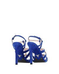 Prada - Blue Sandals - Lyst