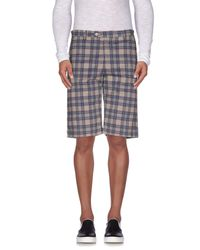 Officina 36 - Blue Bermudas for Men - Lyst