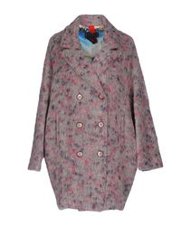 Femme By Michele Rossi - Gray Coat - Lyst