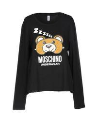Moschino - Black Undershirt - Lyst