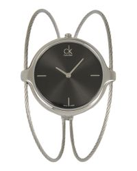 CK Calvin Klein - Metallic Wrist Watch - Lyst