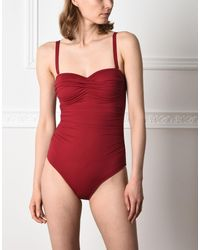 Jolie By Edward Spiers - Red One-piece Swimsuits - Lyst