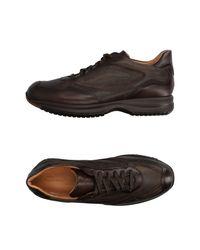 Santoni - Brown Low-tops & Sneakers - Lyst