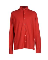 Della Ciana - Red Shirt for Men - Lyst