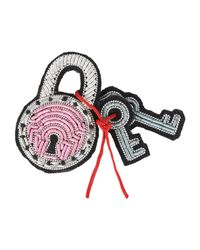 Macon & Lesquoy - Pink Brooch - Lyst