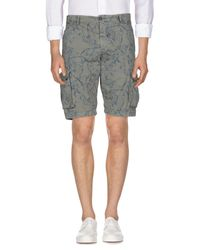 40weft Gray Bermuda Shorts for men