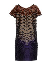 Alberta Ferretti - Multicolor Short Dress - Lyst