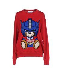 Moschino - Red Sweater - Lyst
